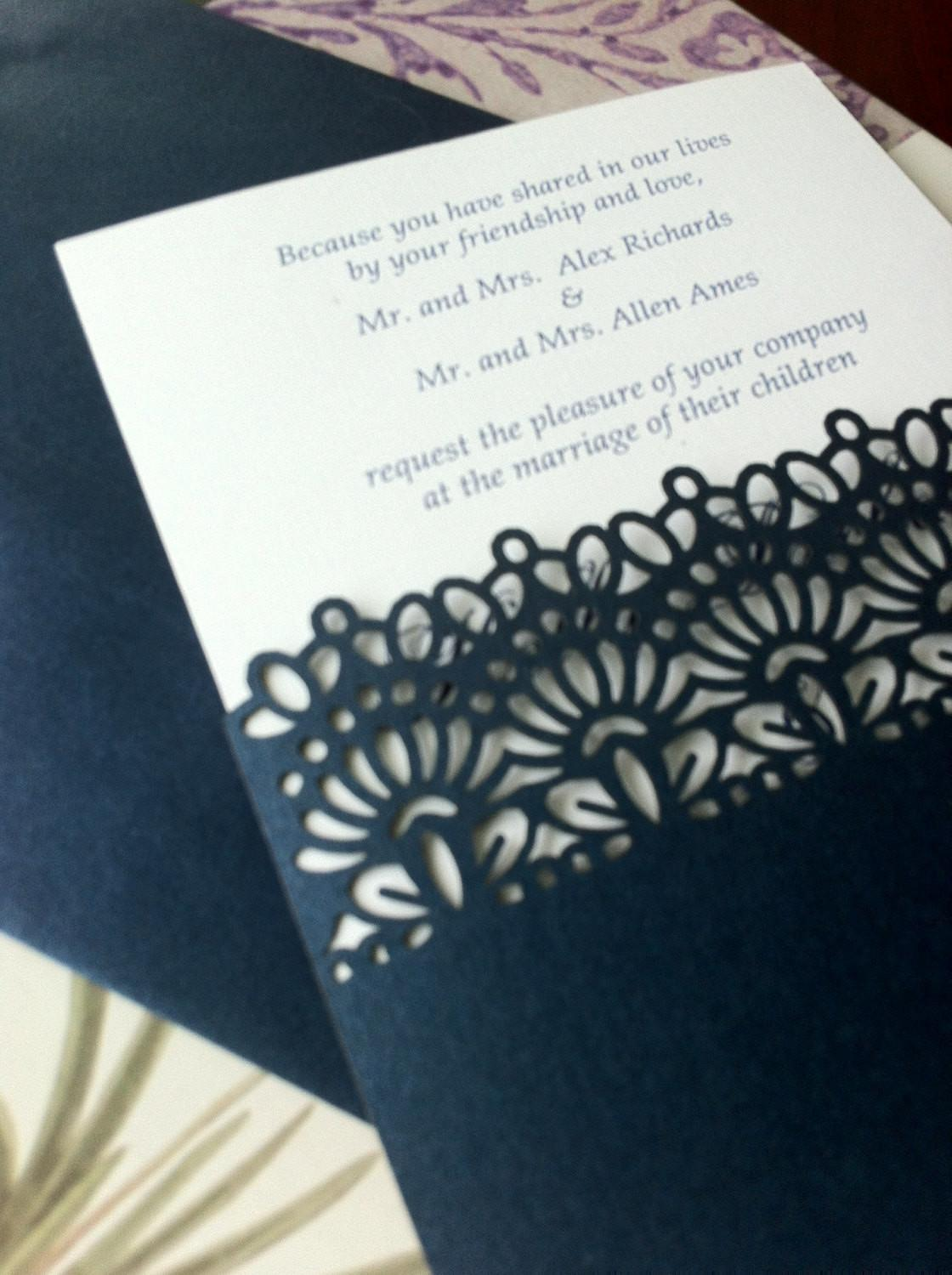 Laser Cut Wedding Invitations Die