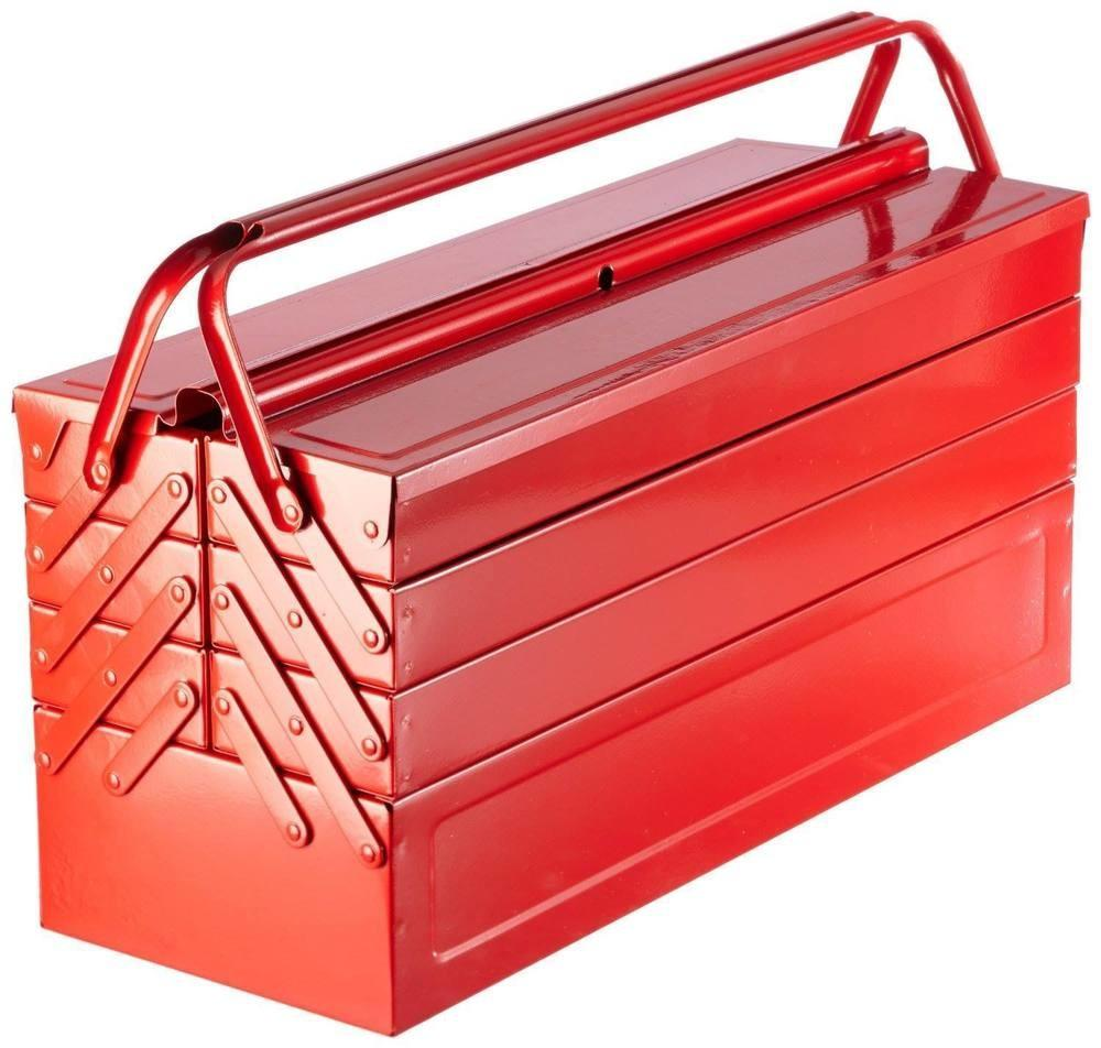 Laser Tools Clearout Red Metal Toolbox Tool Box Cantilever