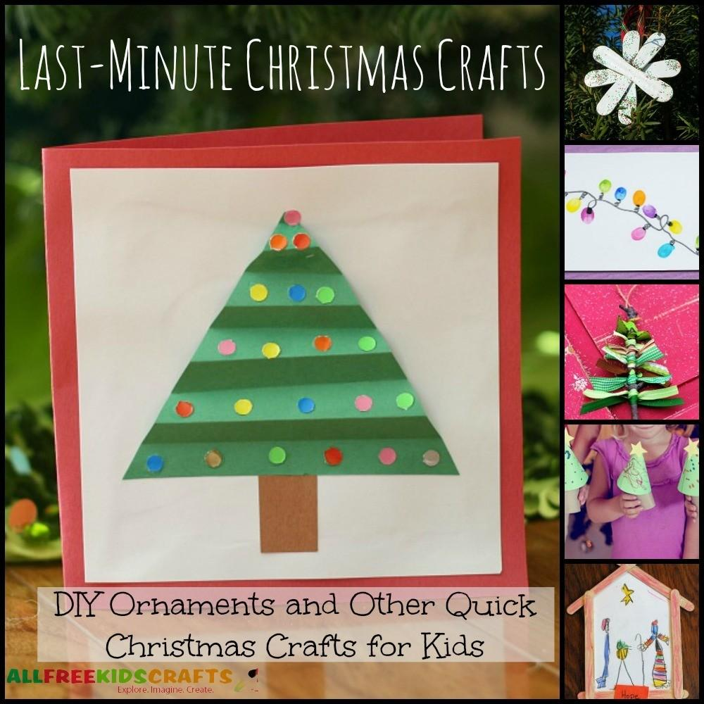 Last Minute Christmas Crafts Diy Ornaments Other