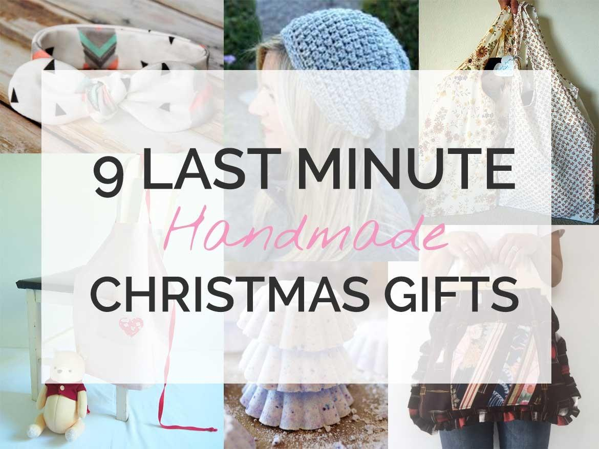 Last Minute Diy Christmas Gifts Sew Love