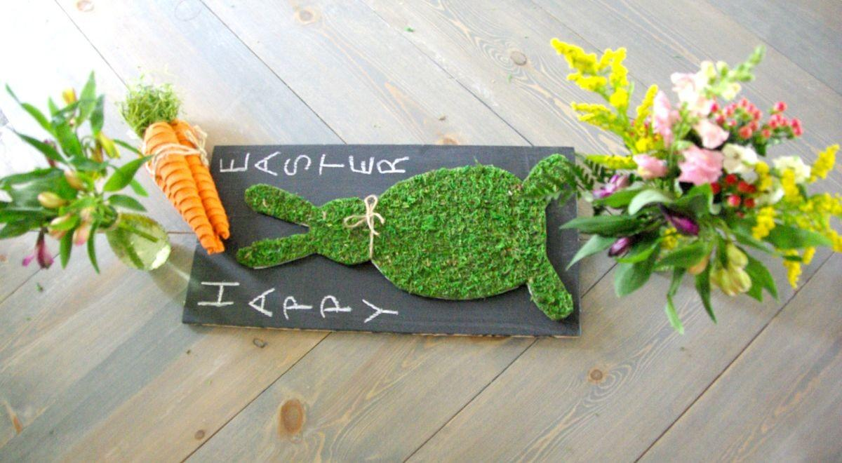 Last Minute Diy Moss Easter Bunny Home Decorating