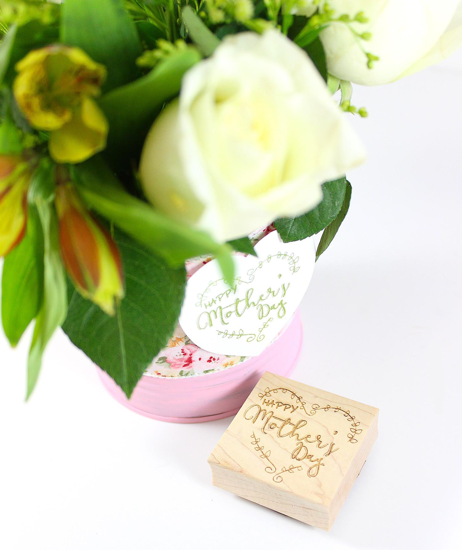 Last Minute Diy Mother Day Vase Rubberstamps Blog