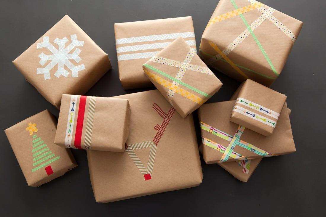 Last Minute Gift Wrap Alert Diy Washi Tape Wrapping Paper
