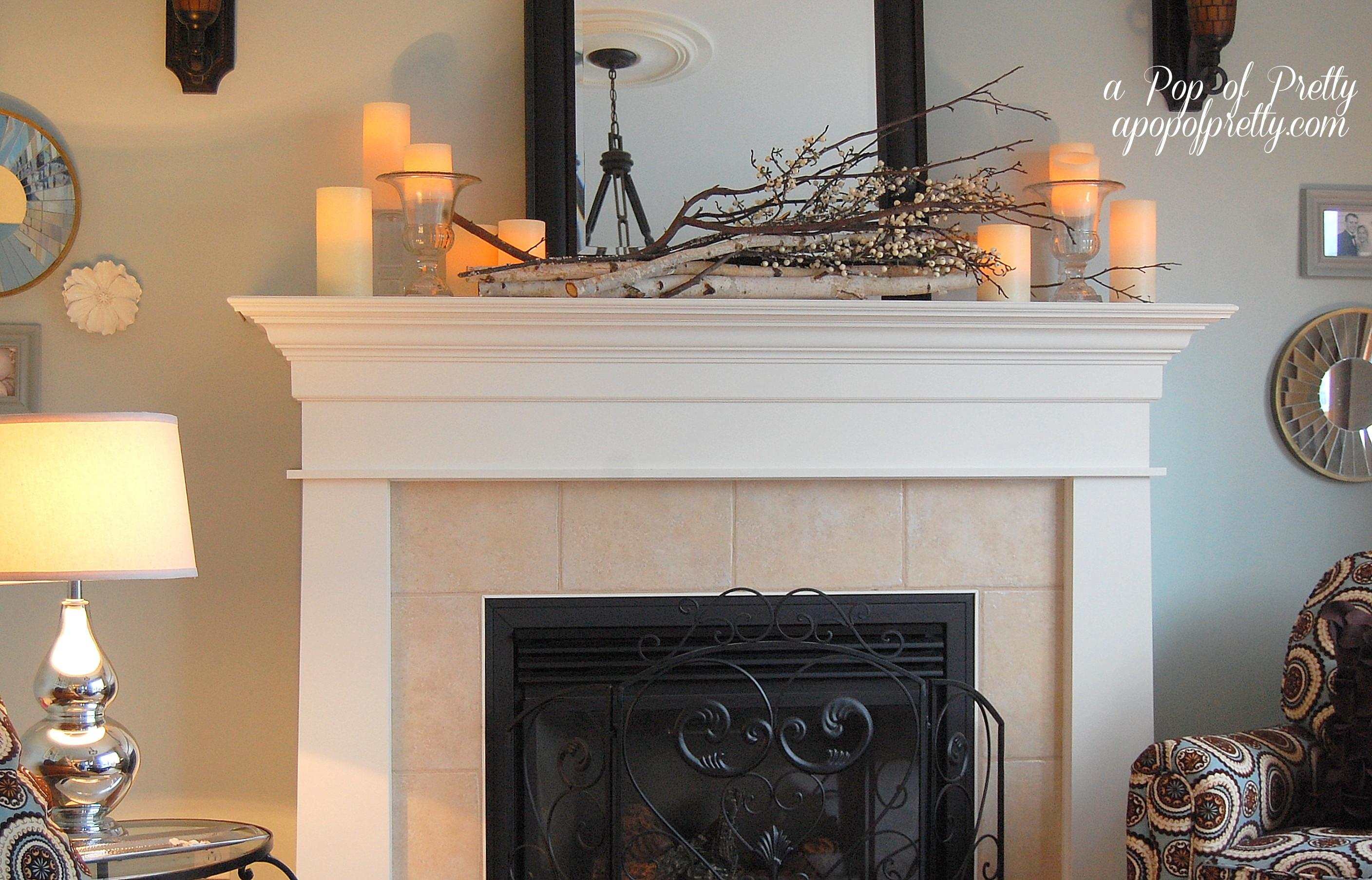 Late Fall Mantel Decor Pop Pretty Blog Canadian