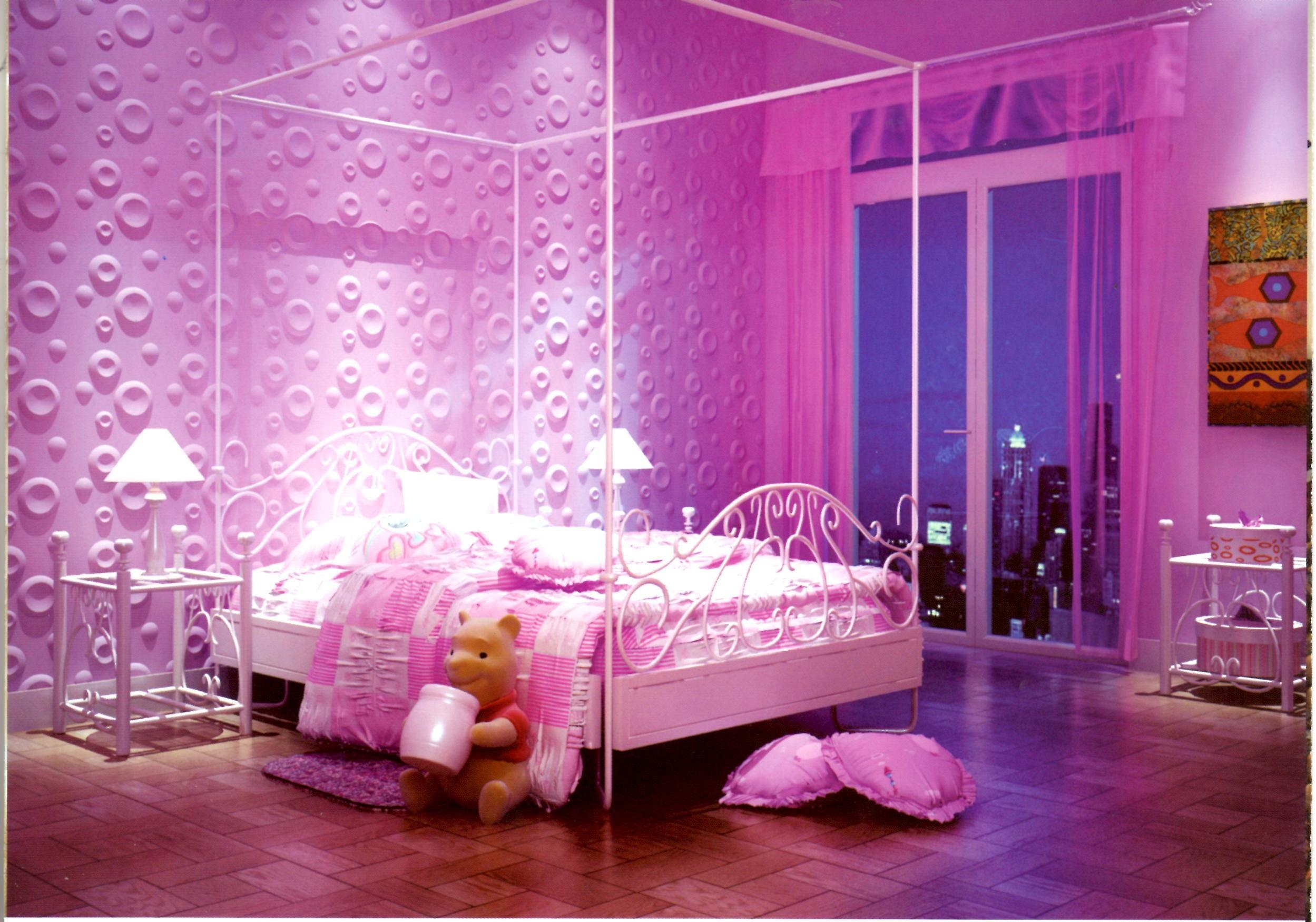 Latest Bedroom Designs Pink Colour Exquisite