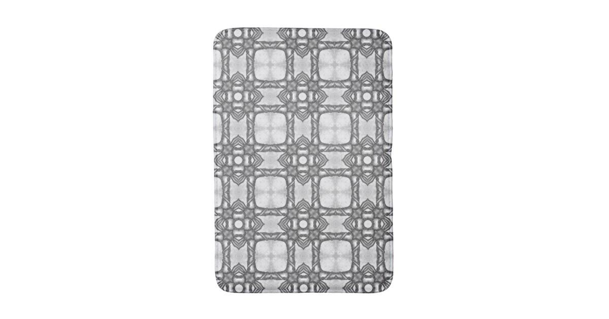 Lattice Moroccan Abstract Floral Tile Pattern Bath Mat