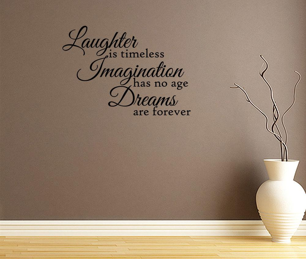 Laughter Timeless Vinyl Wall Decals Quotes Sayings