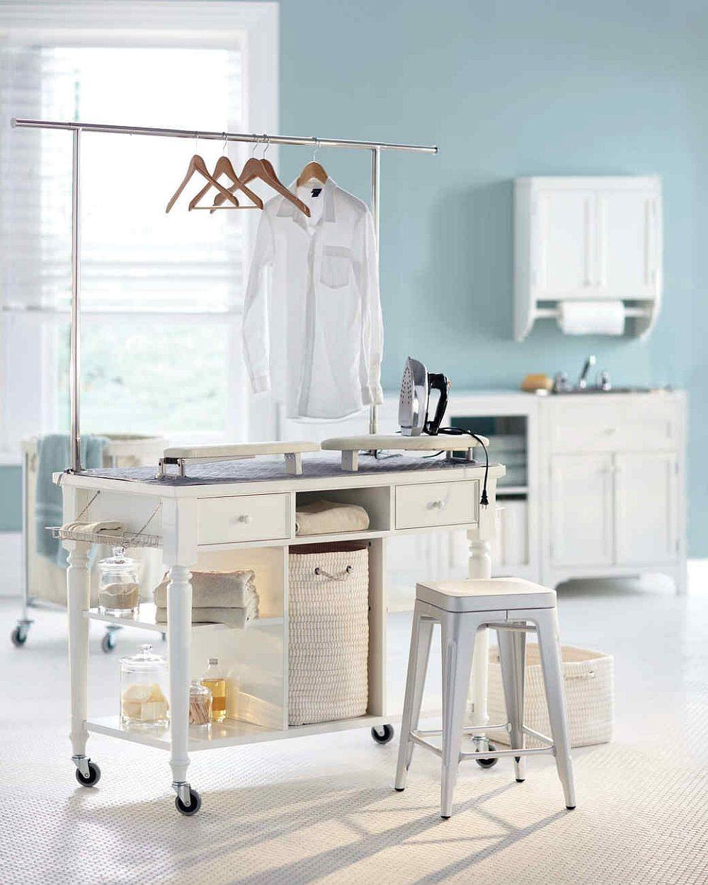 Laundry Room Carts Mobile Space Savvy Ways