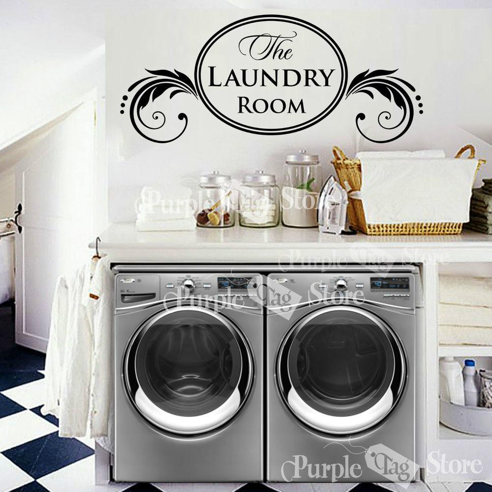 Laundry Room Vinyl Wall Art Home Decoration Quote