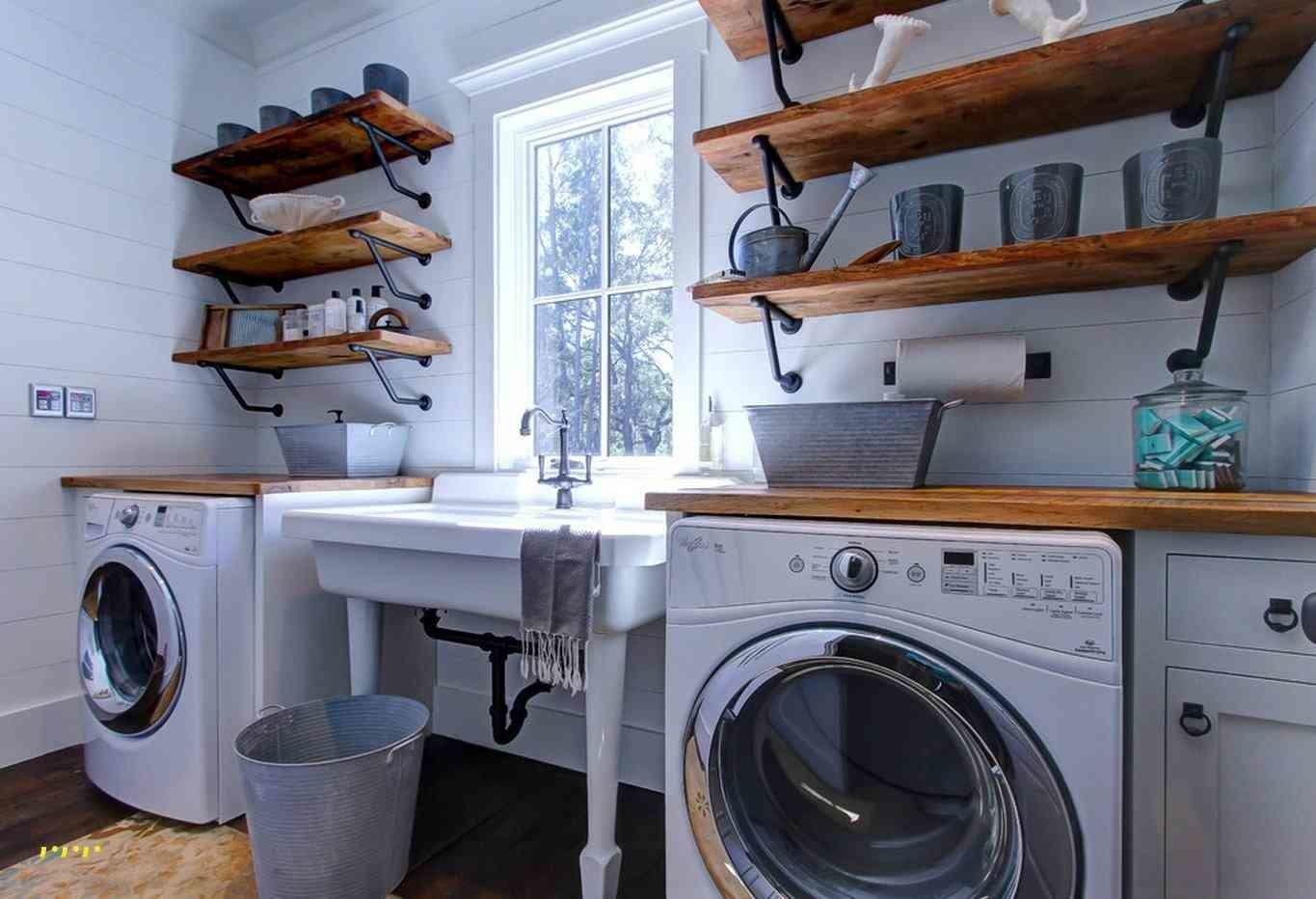 Laundry Room Wood Shelving Luxury Best