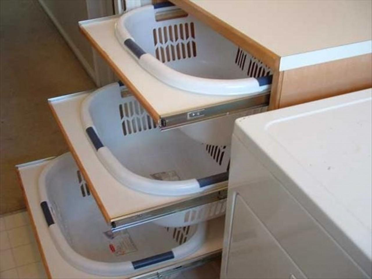 Laundry Sorter Hamper Room Storage Cabinets