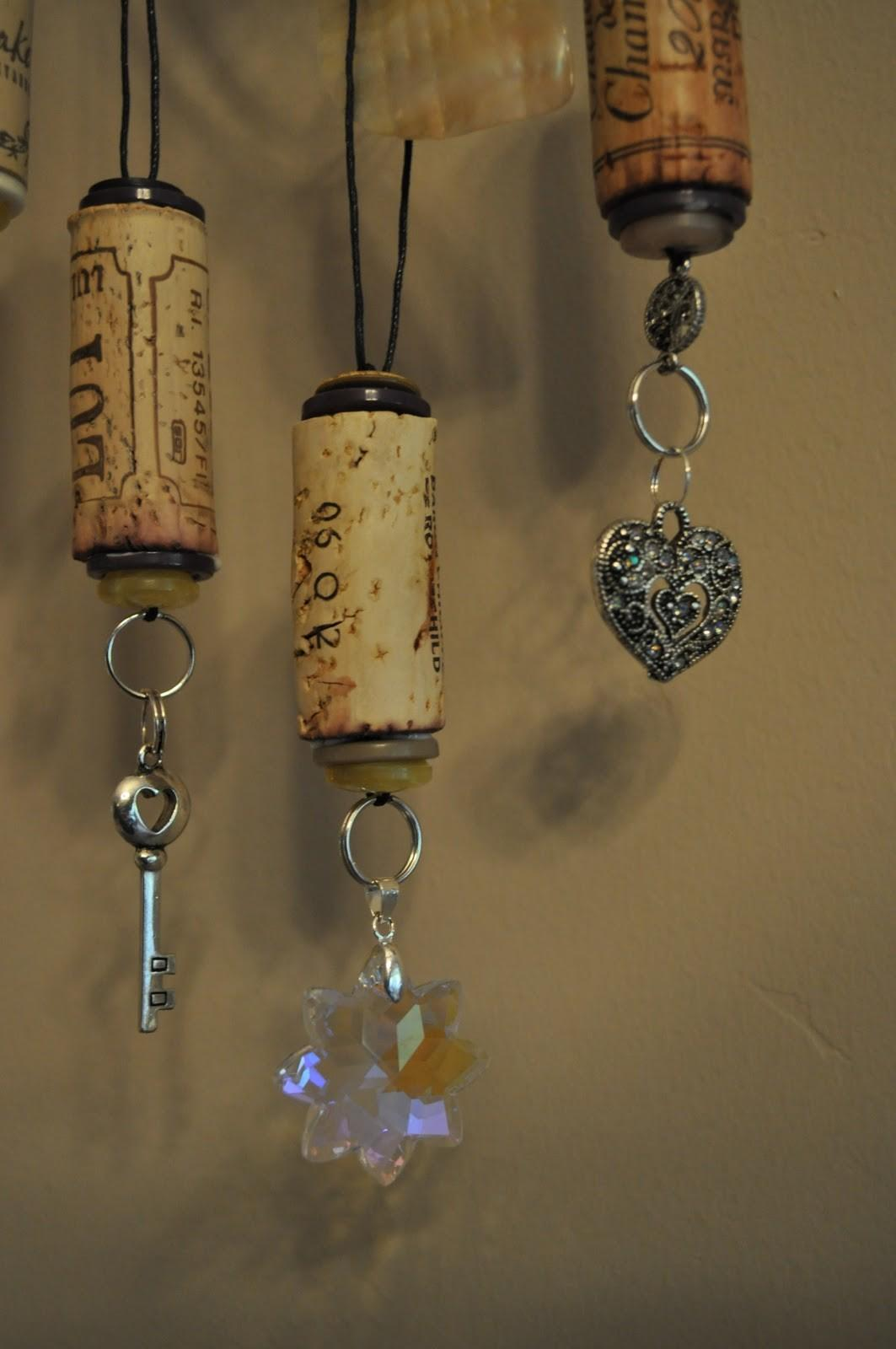 Lavender Clouds Wine Cork Ornaments