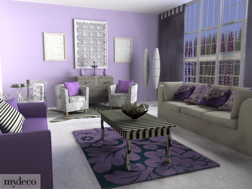 Lavender Living Room Decorating Ideas Modern House