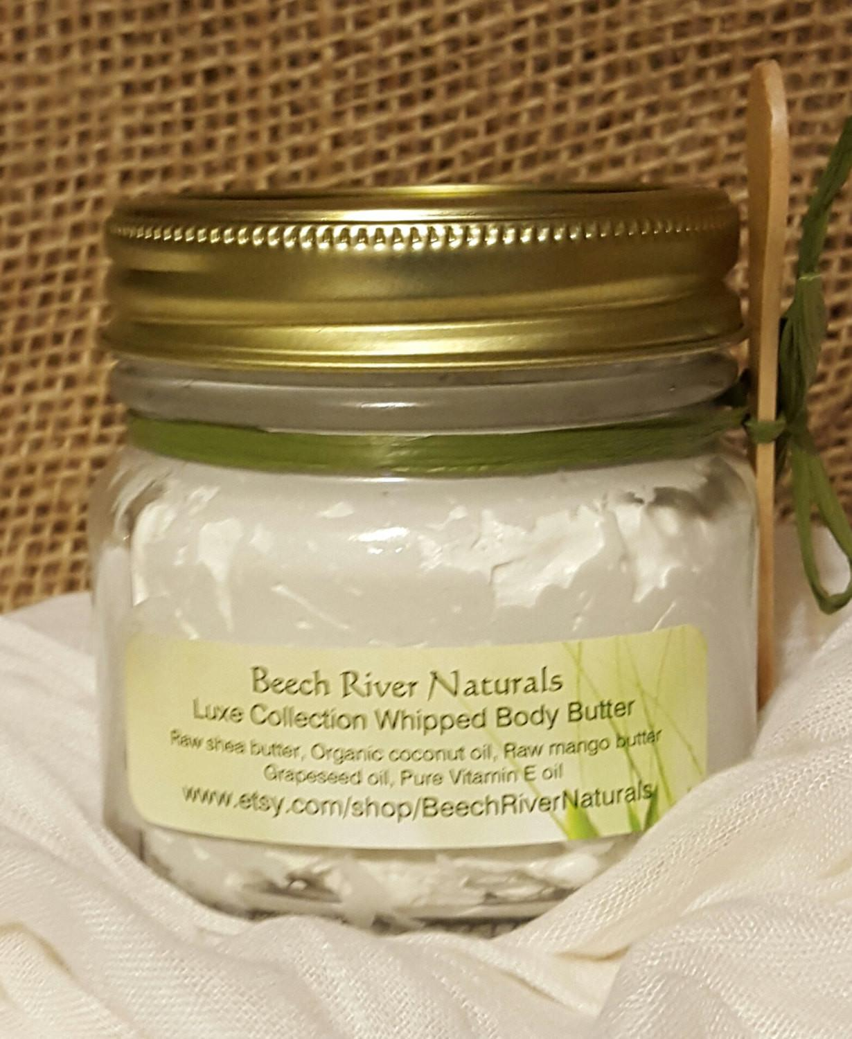 Lavender Rosemary Body Butter Coconut Oil Lotion Organic