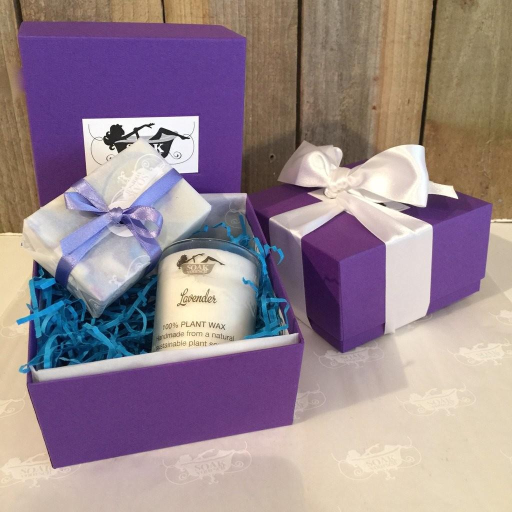 Lavender Soap Candle Gift Box Selection Soak Yourself