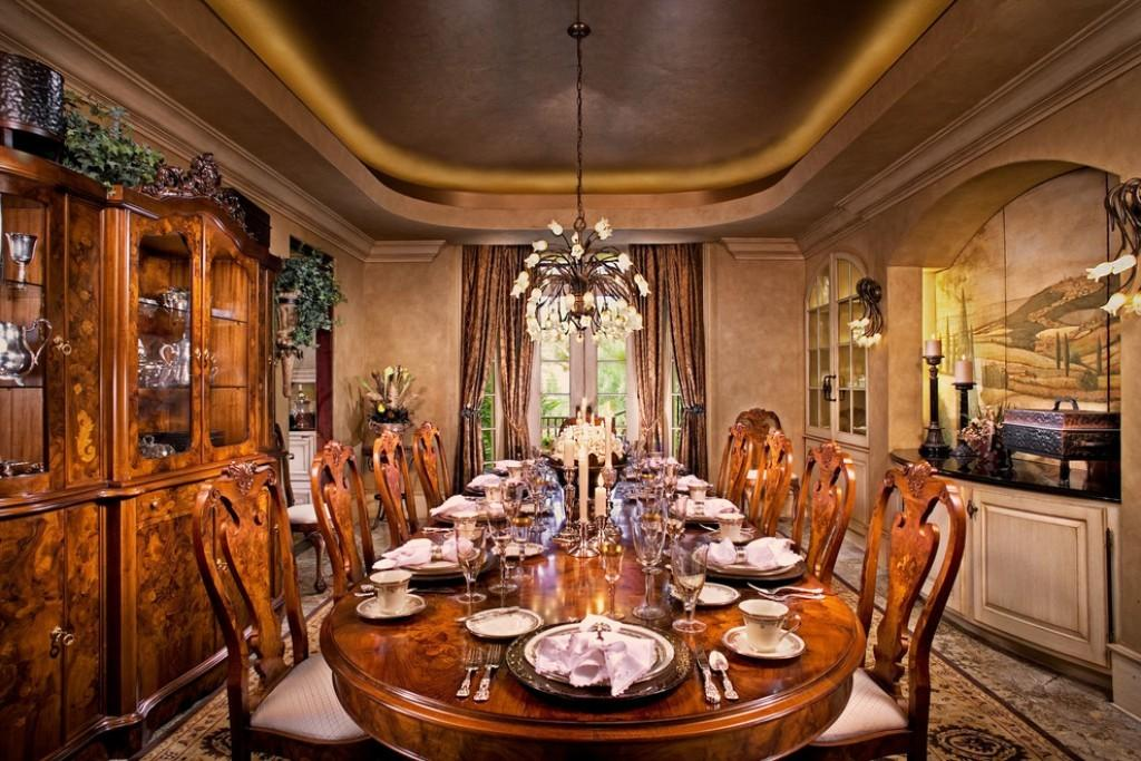 Lavish Wooden Oval Dining Table Italian Room Decorati