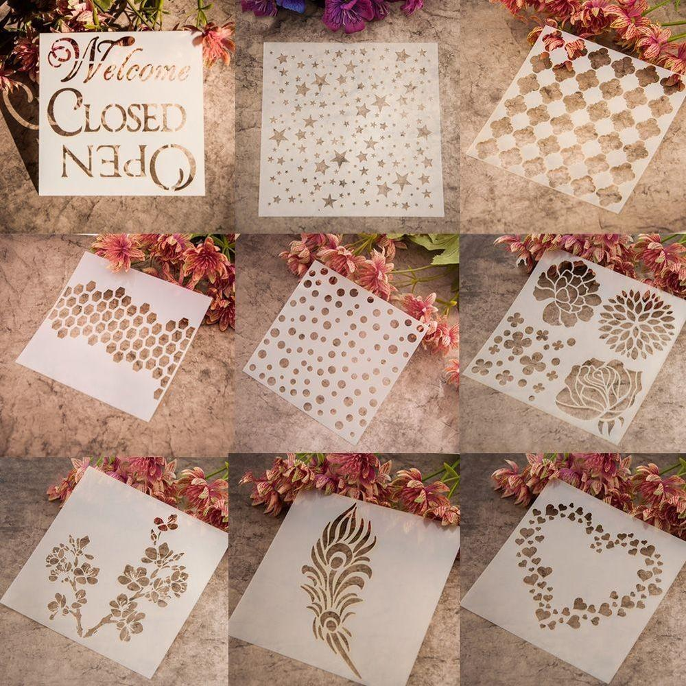 Layering Stencils Templates Scrapbooking Drawing Home