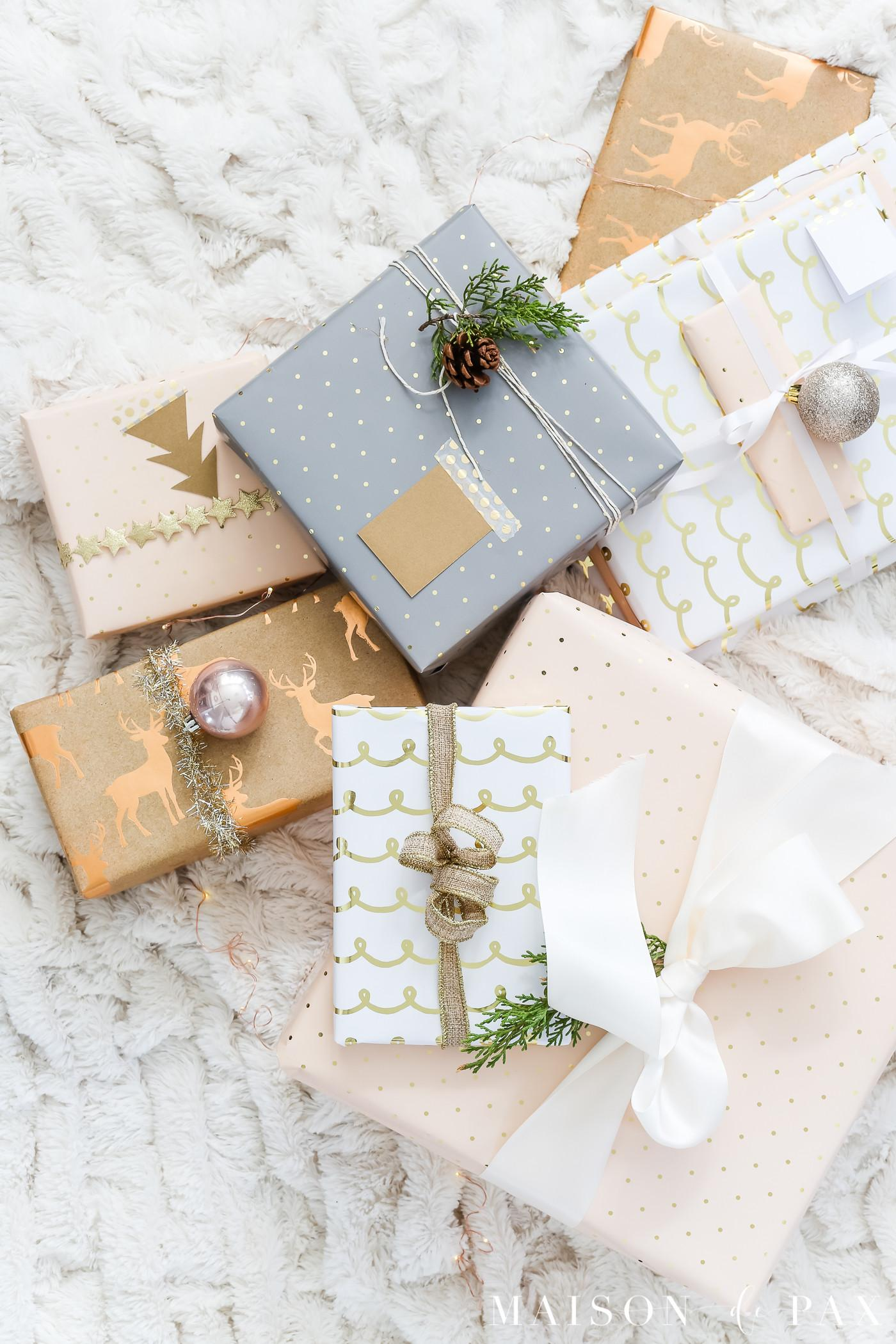Lazy Girl Guide Beautiful Gift Wrap Ideas