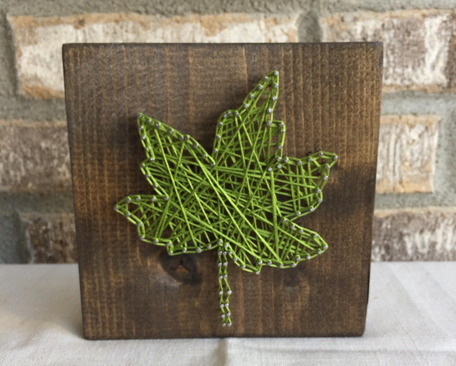 Leaf String Art Fall Decor Thanksgiving