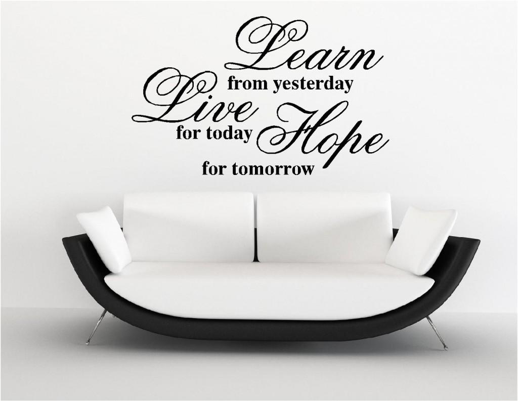 Learn Live Hope Vinyl Wall Art Stickers Custom