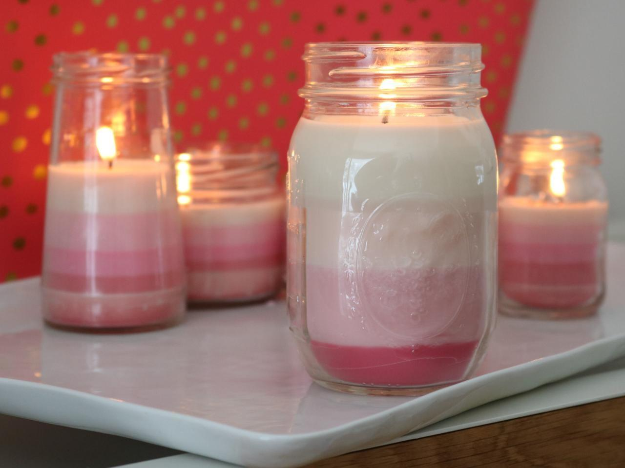 Learn Make Ombre Striped Candles Diy Network Blog