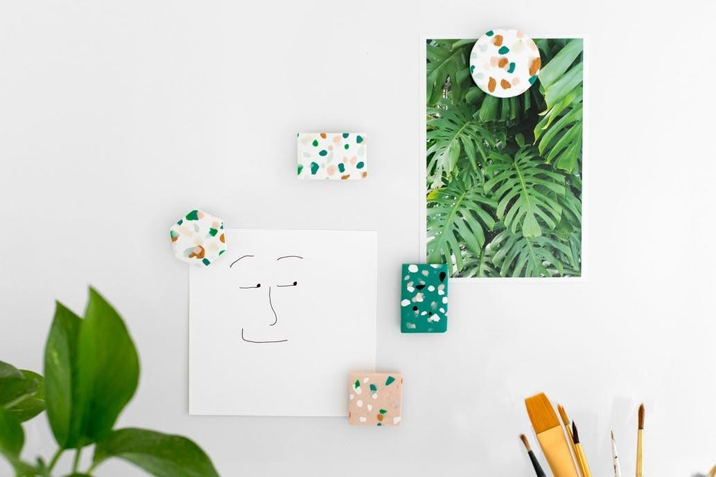 Learn Make Trendy Geometric Terrazzo Magnets