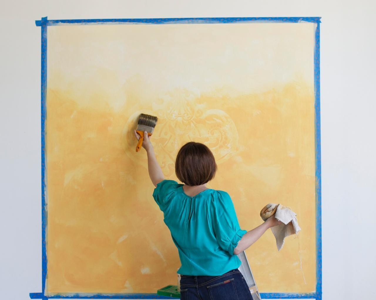 Learn Paint Stenciled Ombre Wall Mural Tos