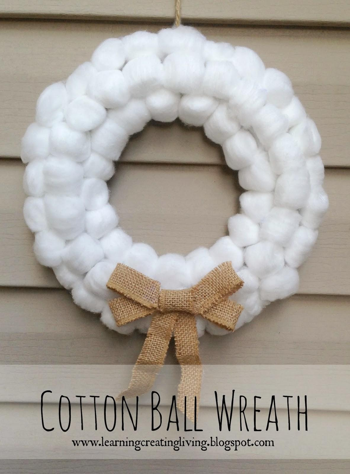 Learning Creating Living Cotton Ball Wreath