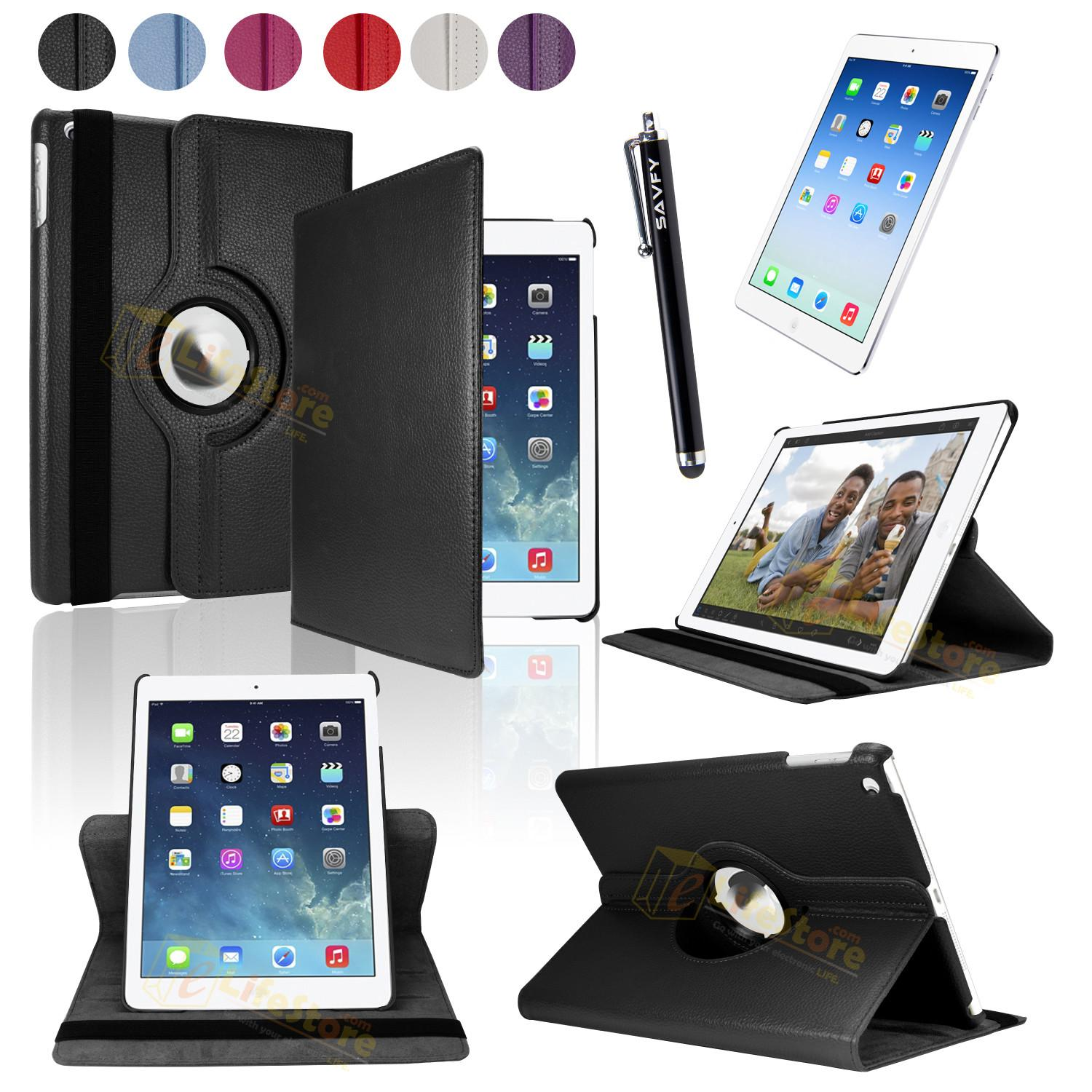 Leather 360 Degree Rotating Case Cover Stand New Apple