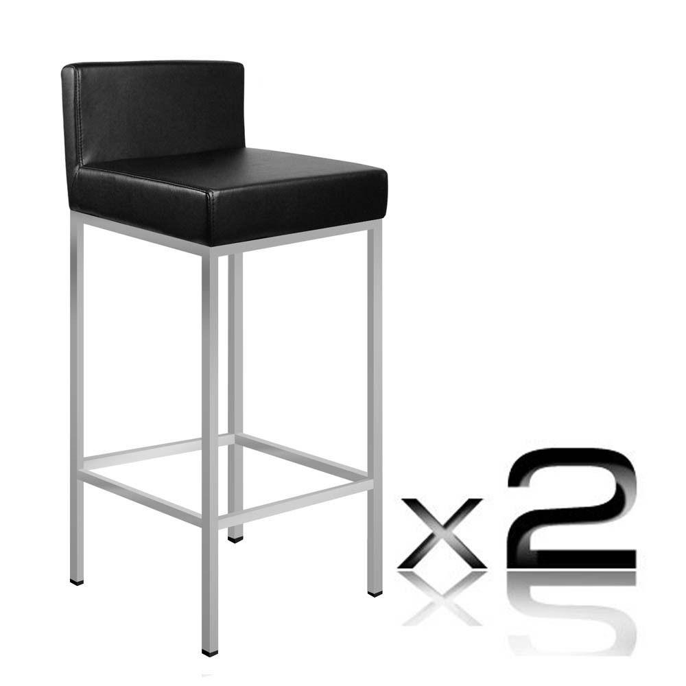 Leather Bar Stool Modern Luxury Kitchen Dining