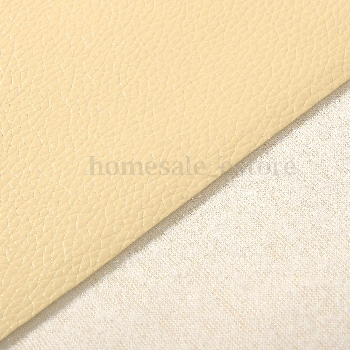Leather Fabric Solid Color Car Interior Upholstery Home
