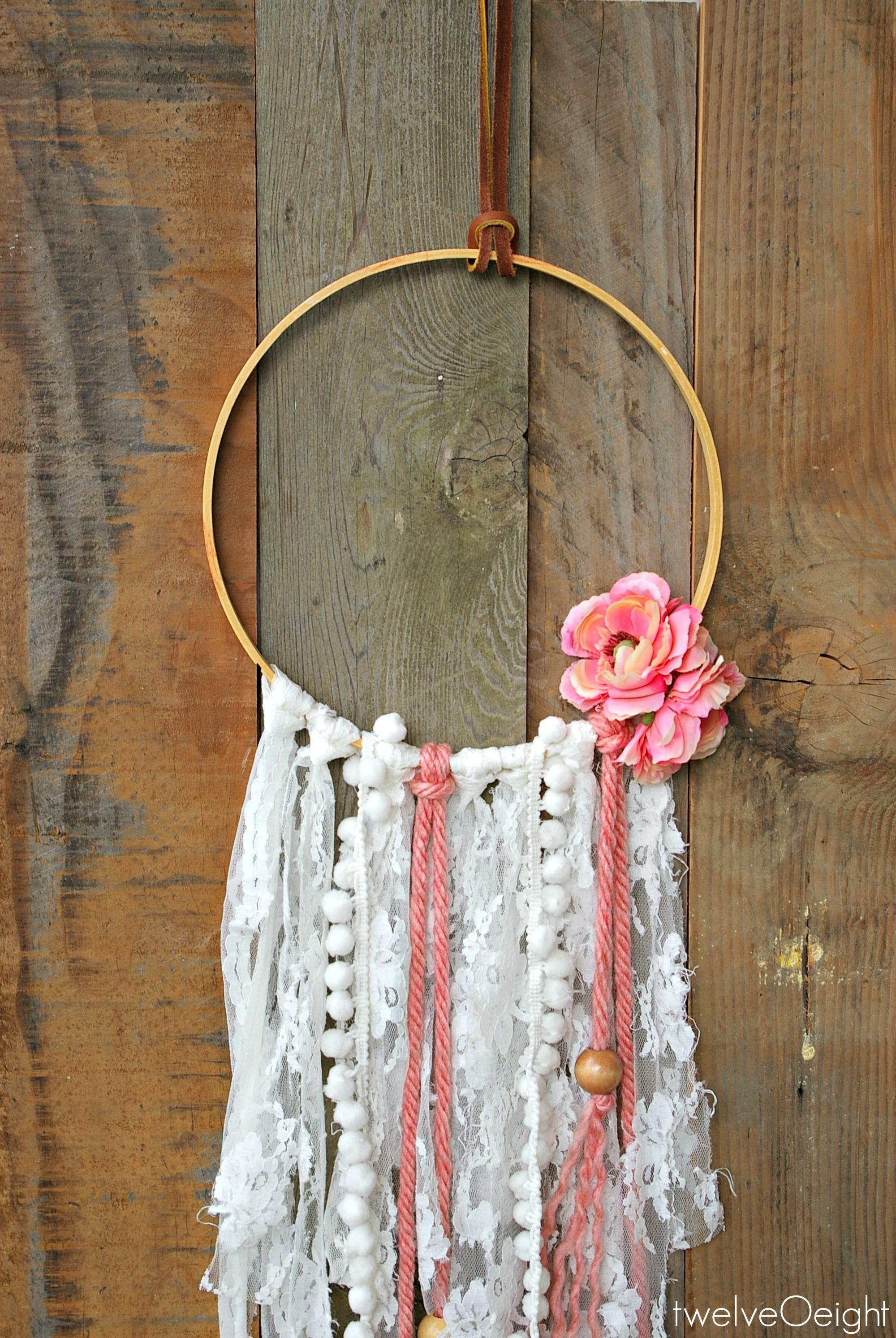 Leather Lace Diy Boho Dream Catcher