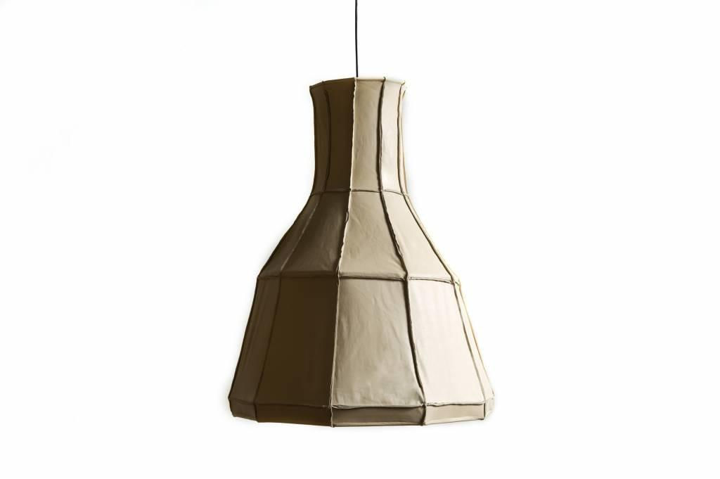Leather Lampshade Vertical Beige Tiny Miracles