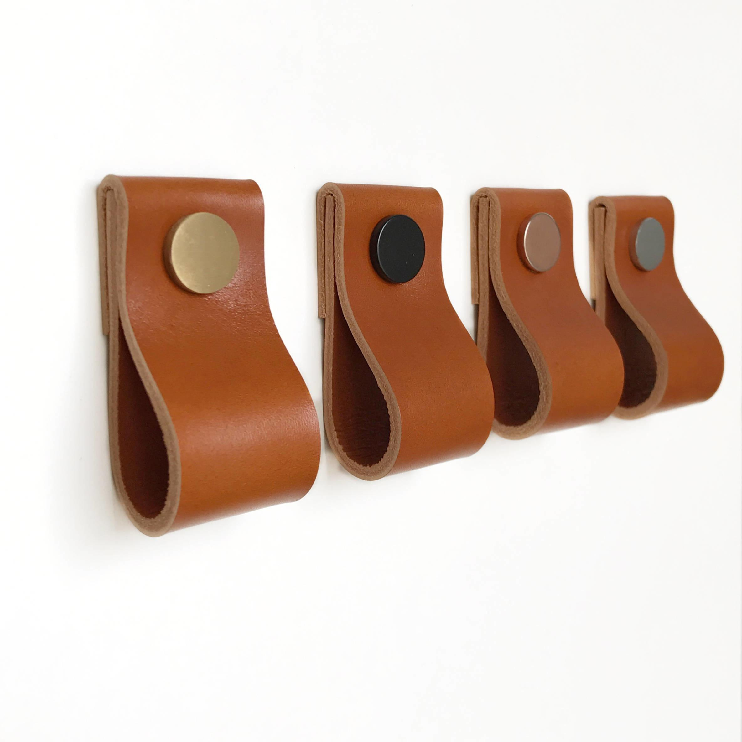 Leather Pulls Handles Cabinet Hardware