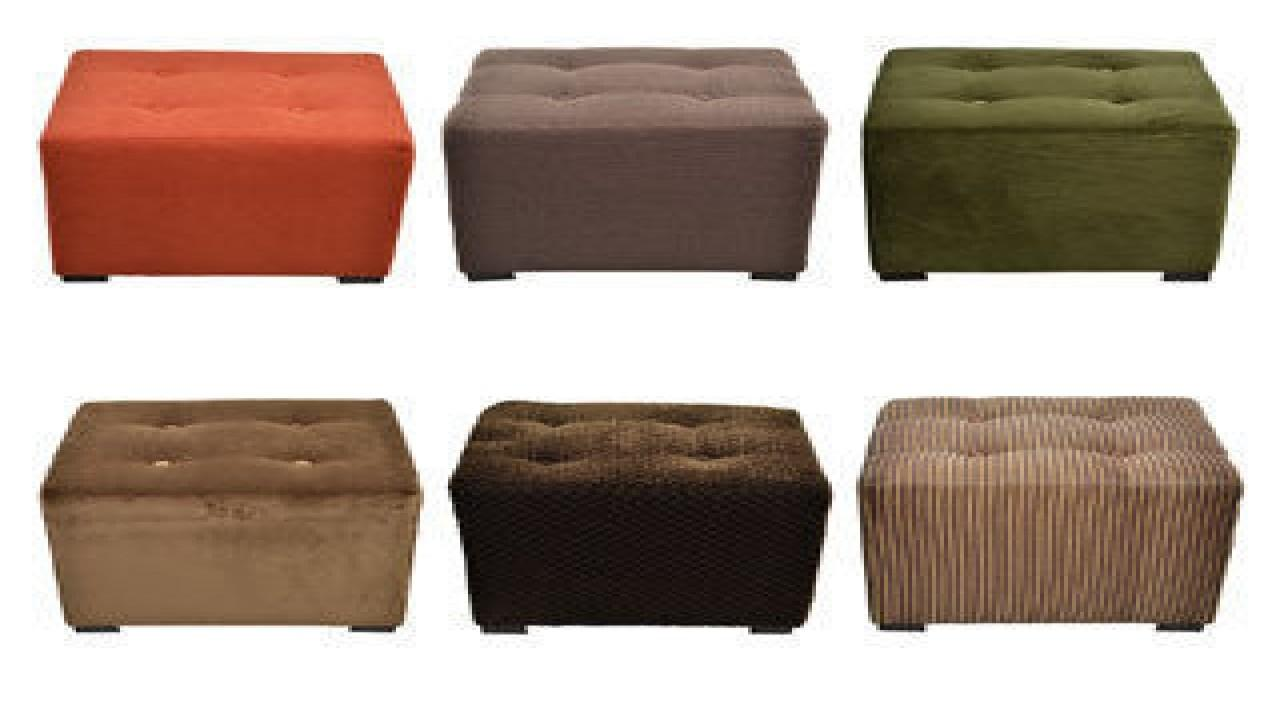 Leather Storage Cube Diy Tufted Ottoman Square