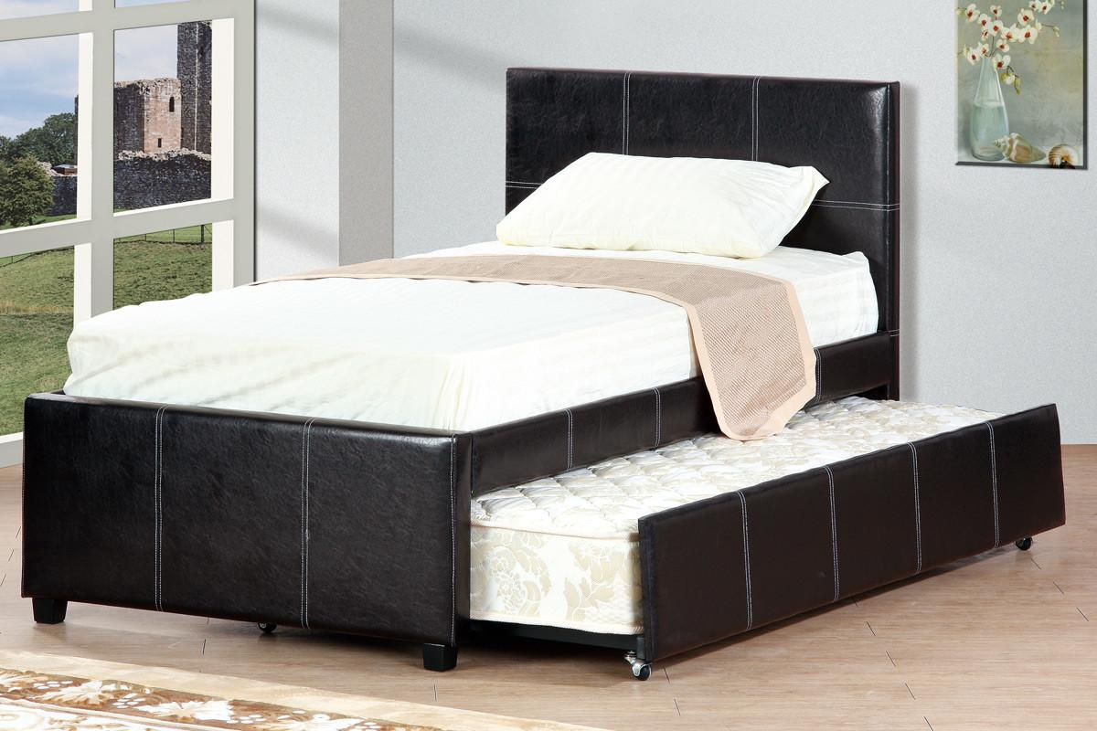 Leather Twin Bed Trundle Huntington Beach Furniture