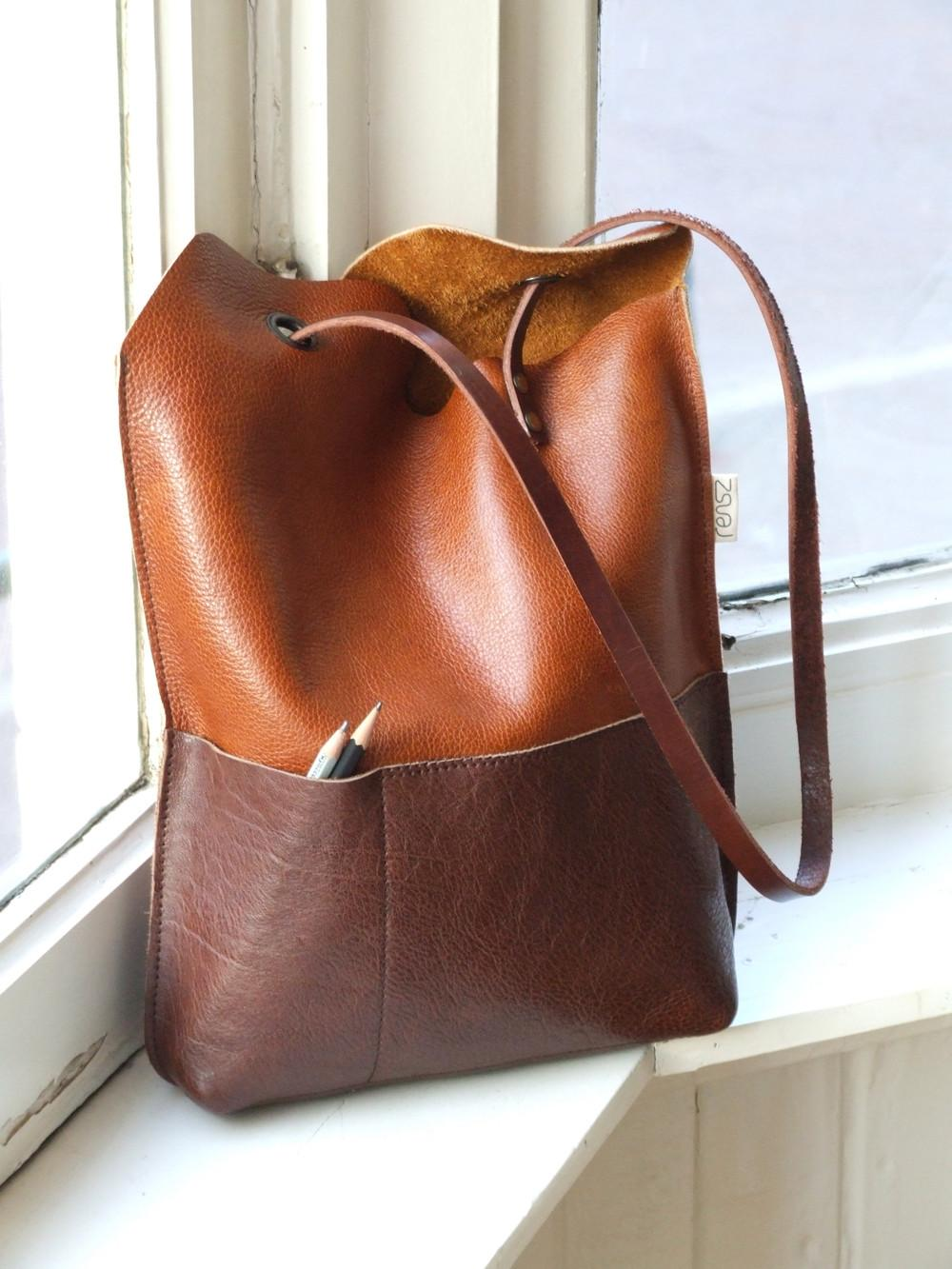 Leather Yin Yang Bag Sewing Projects Burdastyle