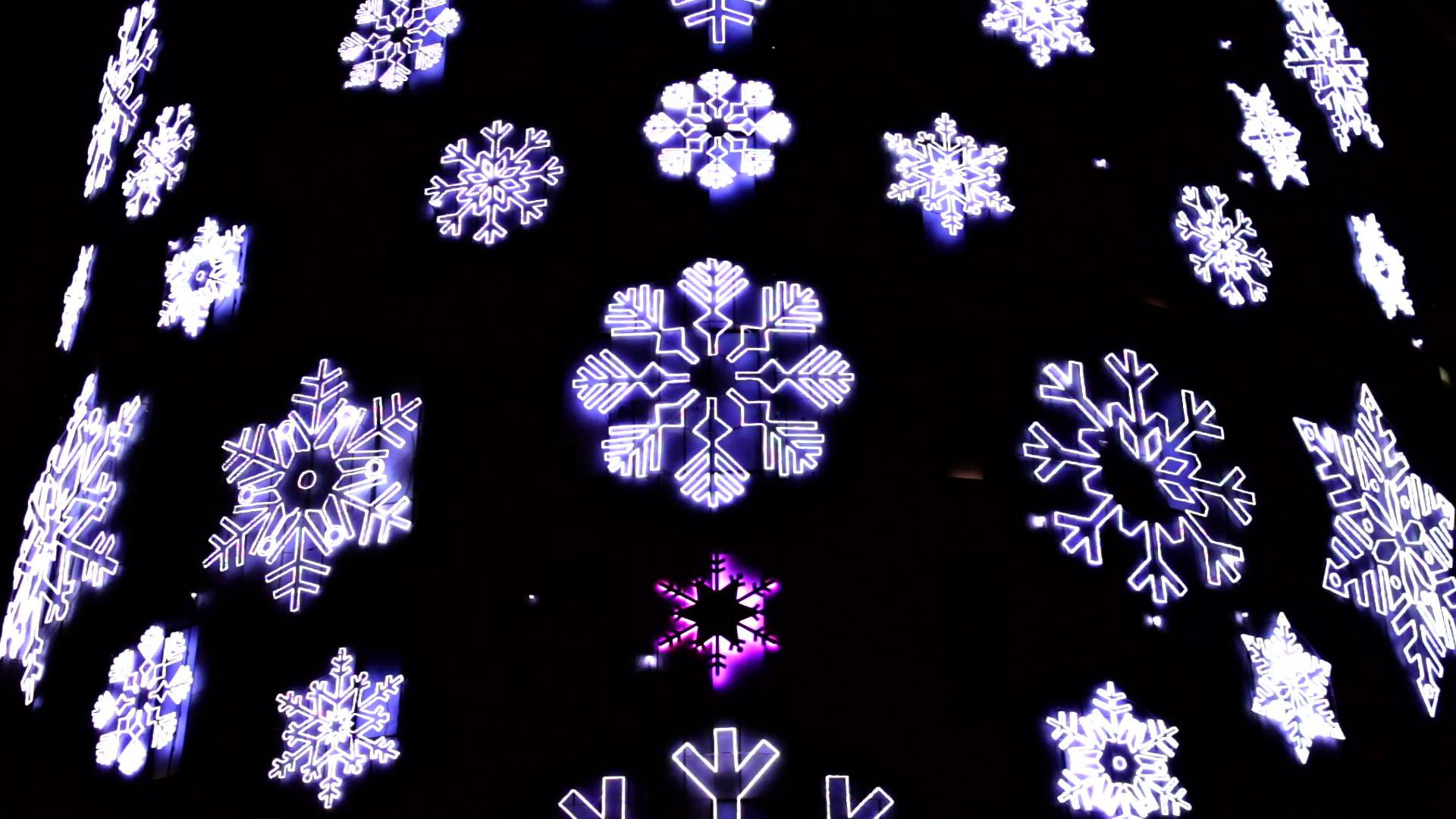 Led Christmas Snowflakes Decorations