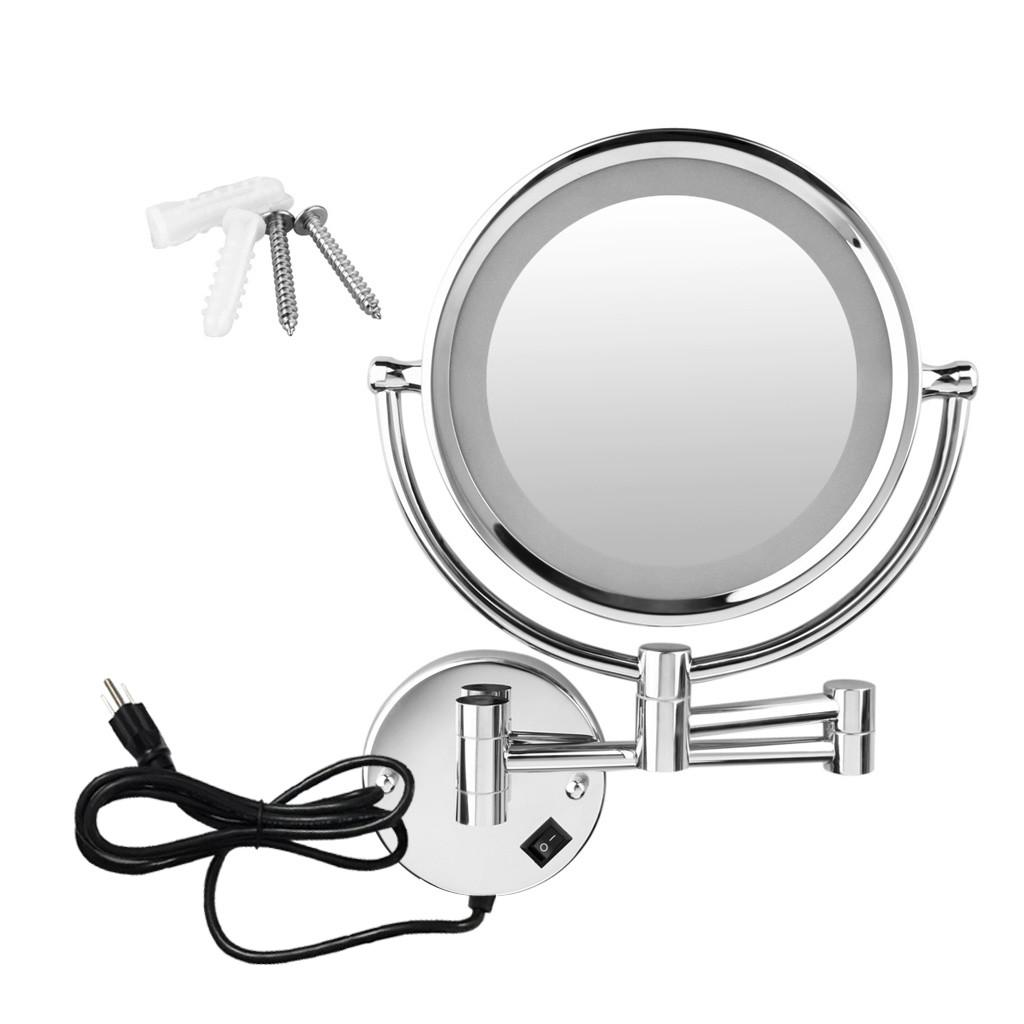Led Lighted 5inch Wall Mounted 10x Magnifying Bathroom