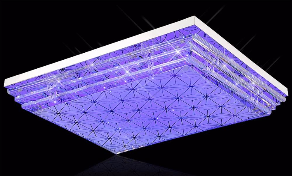 Led Multi Color Ceiling Light Crystal Modern Home Fixture