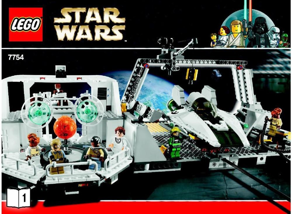 Lego Home One Mon Calimari Star Cruiser Instructions 7754