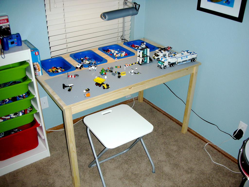 Lego Table Made Parts Following Ideas