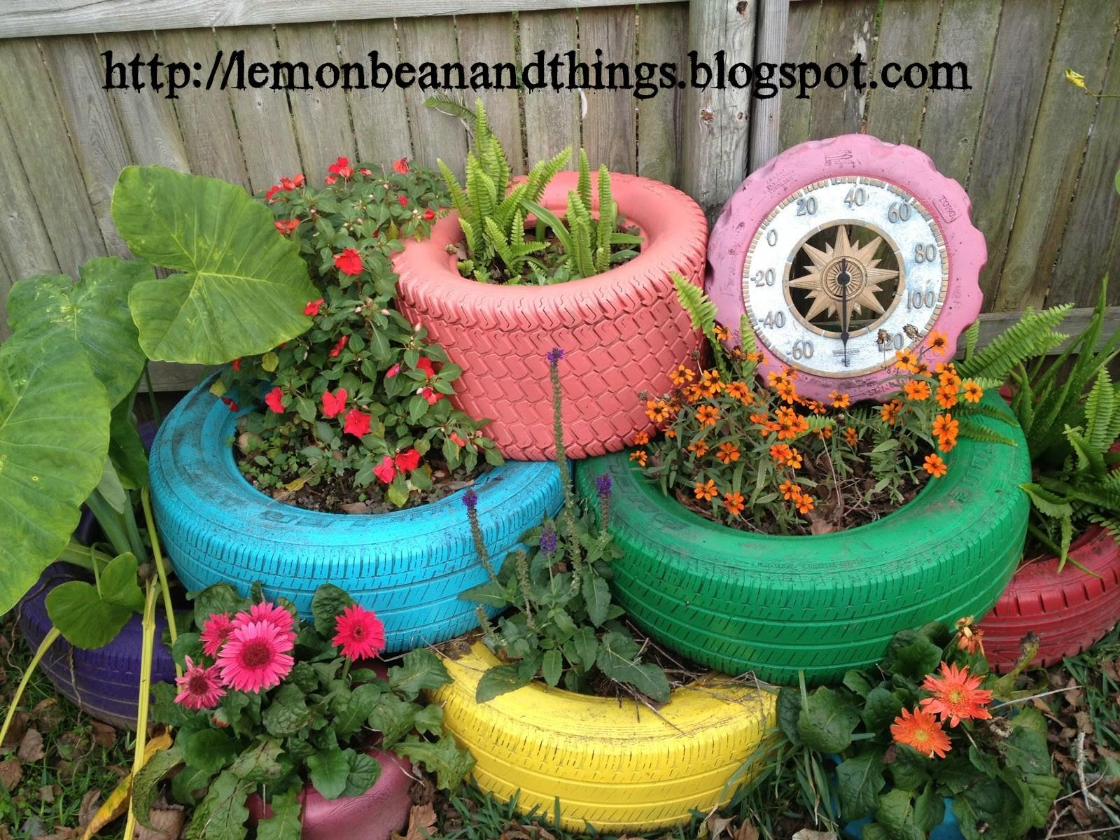 Lemon Bean Things Recycle Tire Planter Under