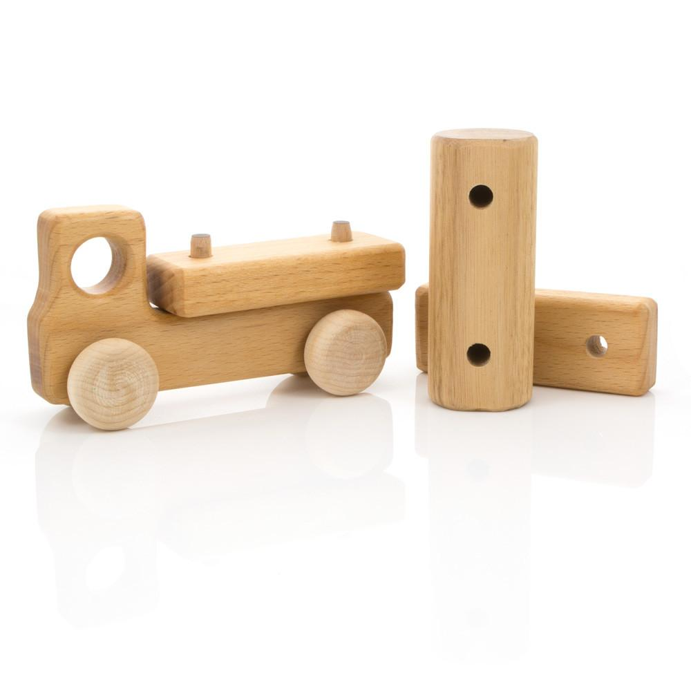 Leo Bella Milton Asbhy Gift Boxed Wooden Toy Truck Natural