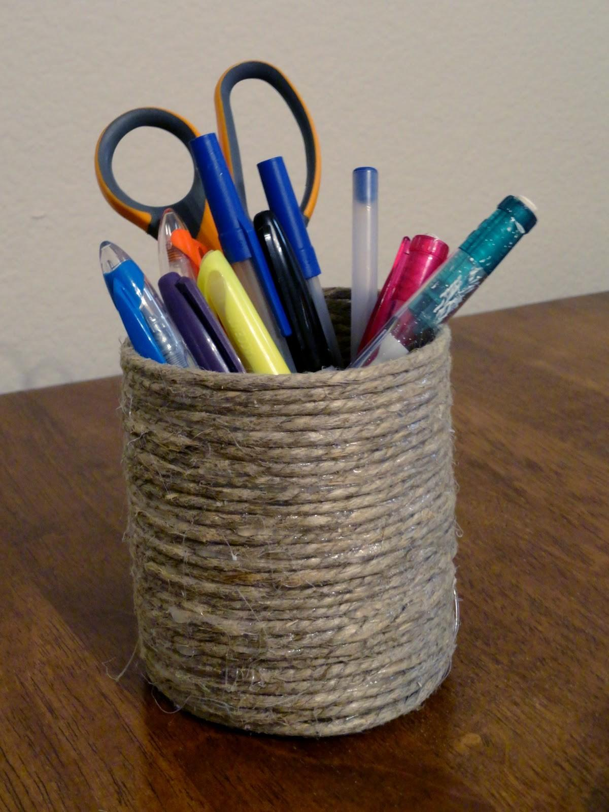Let Create Craft Tuesday Diy Rope Pencil Holder