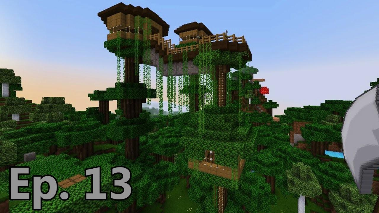 Lets Play Minecraft Survival Roofed Forest