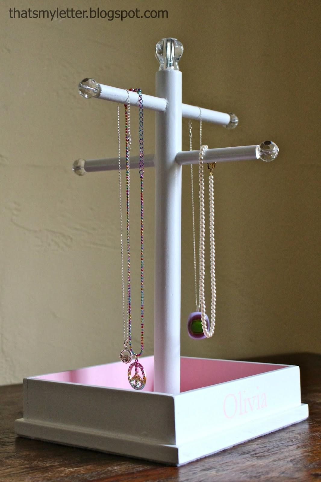 Letter Diy Jewelry Stand