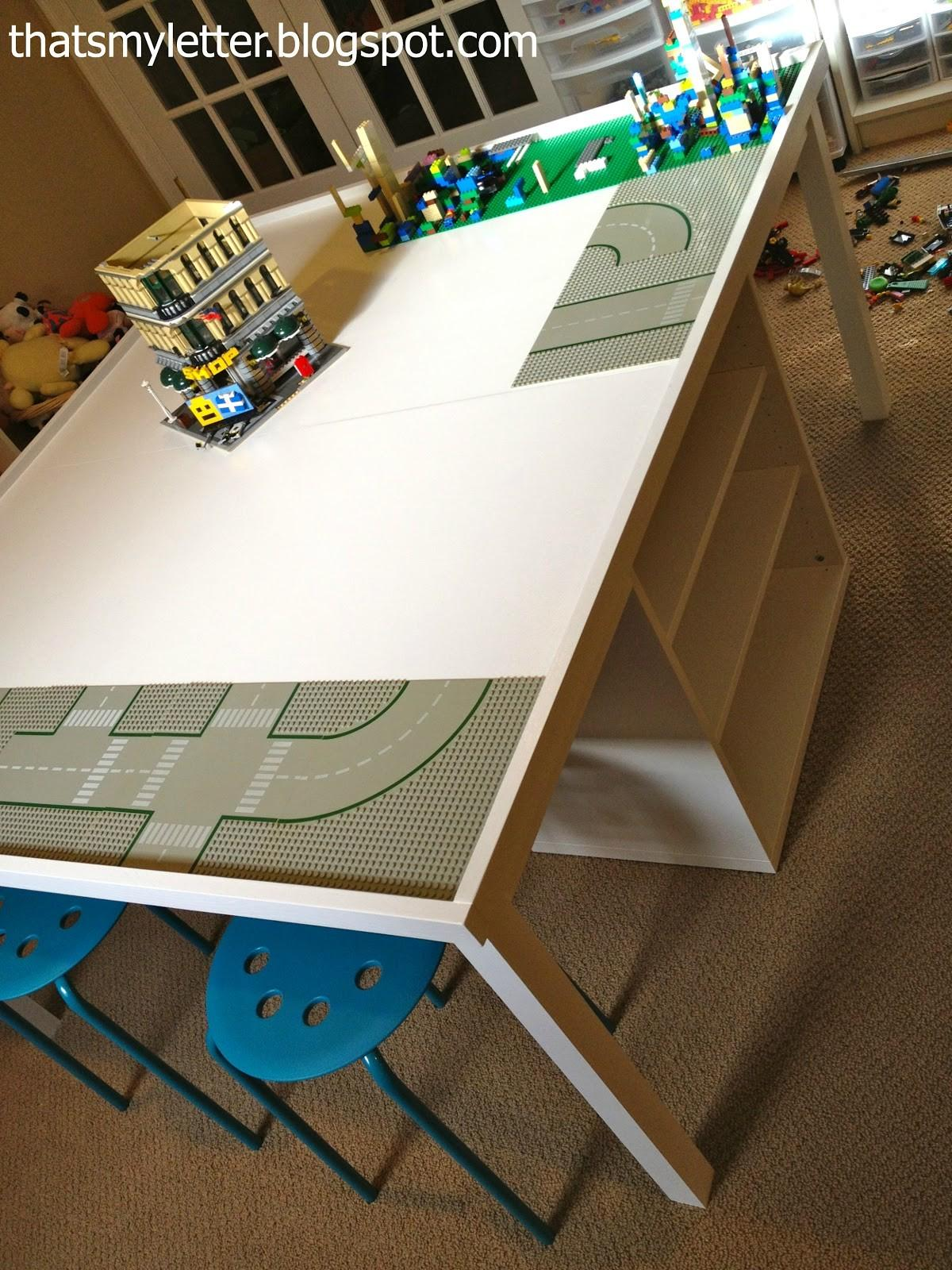 Letter Diy Lego Play Table