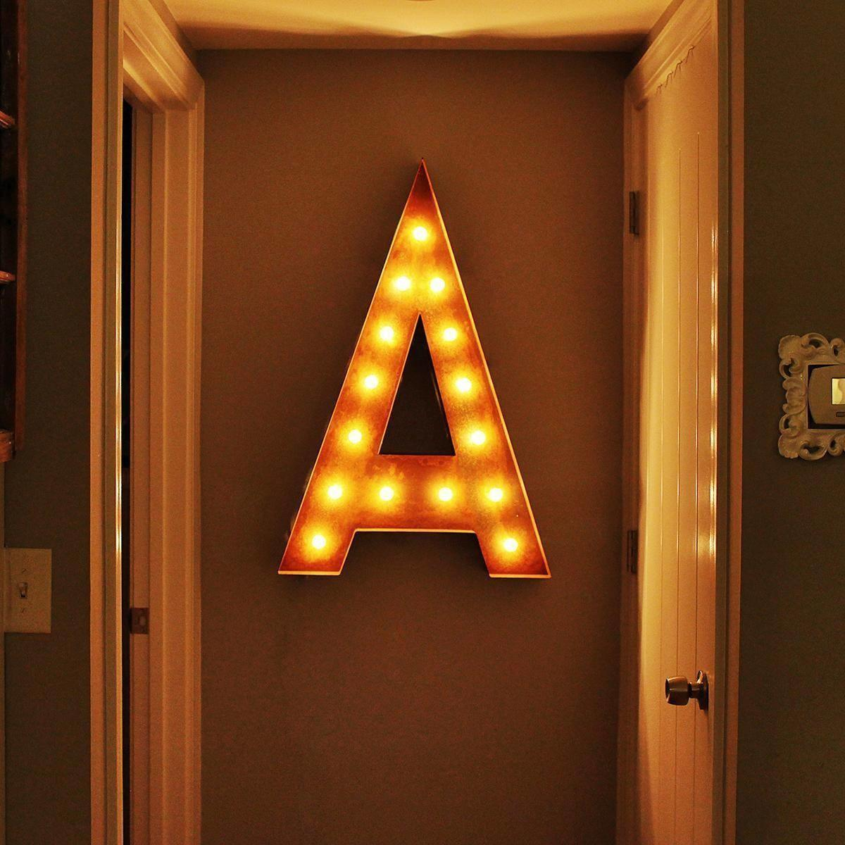 Letter Lighted Vintage Marquee Letters Rustic