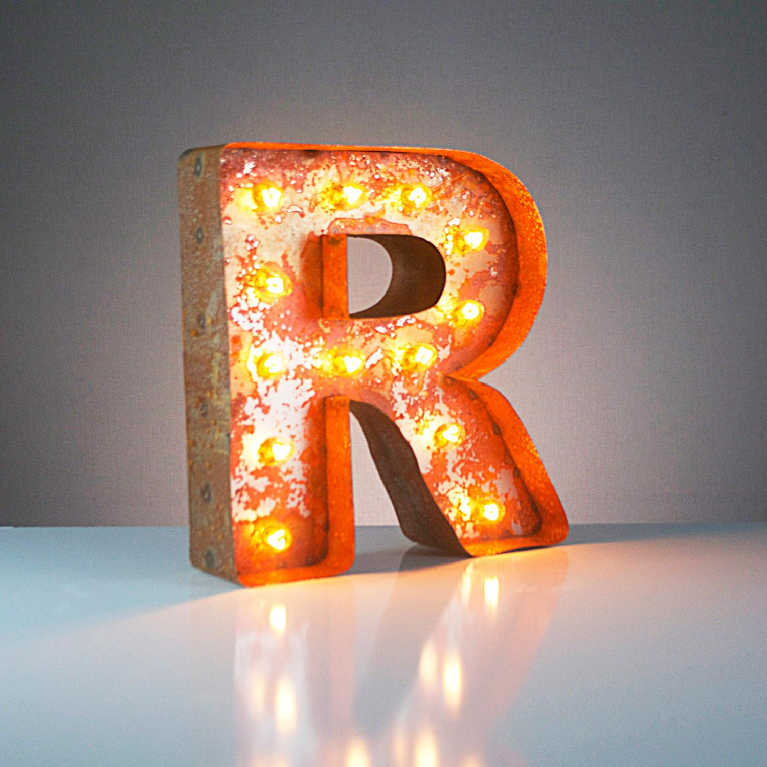 Letter Vintage Marquee Lights Touch Modern